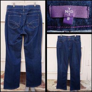 """8 women NYDJ dark blue bootcut jean 8x29 1/2"""""""